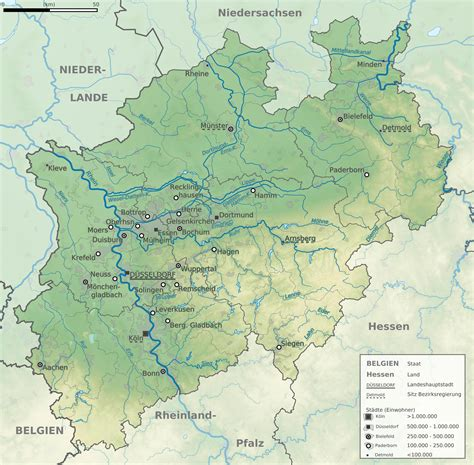 topographic map germany nordrhein westfalen