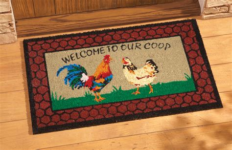 best kitchen rugs rooster kitchen rugs in red cement patio