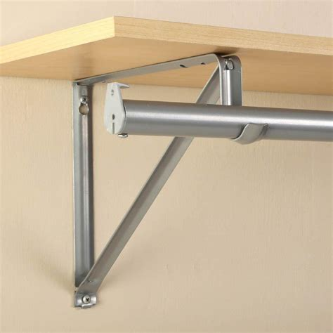 closetmaid rod bracket closet pro 10 3 4 in platinum shelf and rod bracket rp