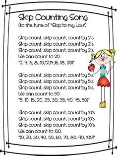 counting song 1000 ideas about skip counting on math place