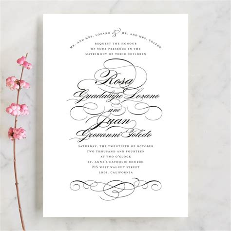 Formal Wedding Invitations by Formal Ink Wedding Invitations By Means Minted