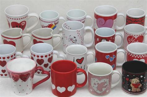valentines cups mugs collection of 18 coffee cups