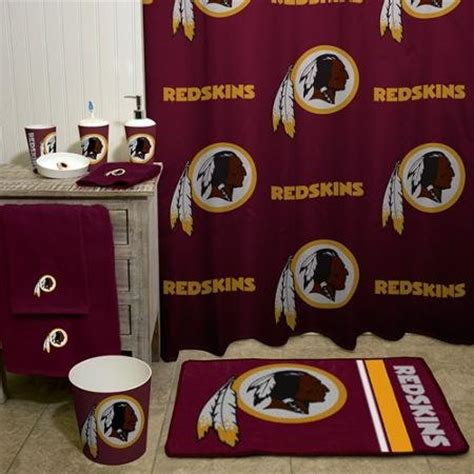 redskins bathroom redskins curtains washington redskins curtain redskins
