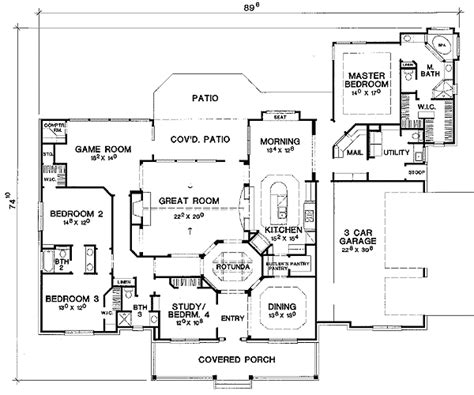 split bedroom plan split bedroom hill country 31066d 1st floor master