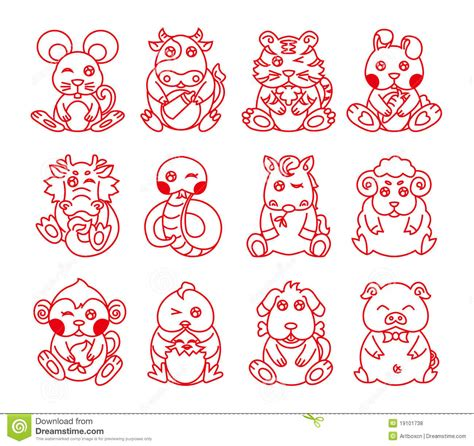 new year animal symbols new year animals meaning royalty free stock