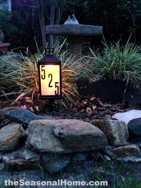 Landscape Rock House Number Diy Solar Address Sign Gift For 171 The Seasonal Home