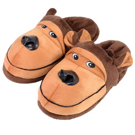boys shark slippers boys novelty slippers shark or monkey sizes 9 10