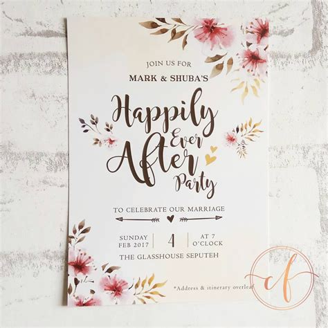 Wedding Card Card by Wedding Card Malaysia Crafty Farms Handmade Happily