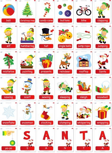 printable christmas flash cards free christmas flashcard set from super simple learning