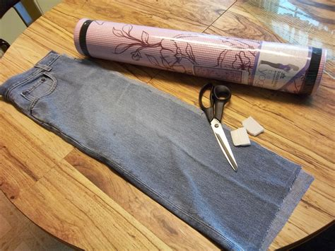 yoga bag pattern with zipper diy yoga mat bag from old pants diy do it your self