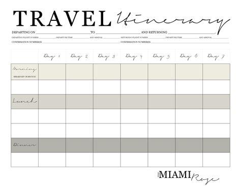 travel planner printable pdf travel lifestyle travel itinerary free printable