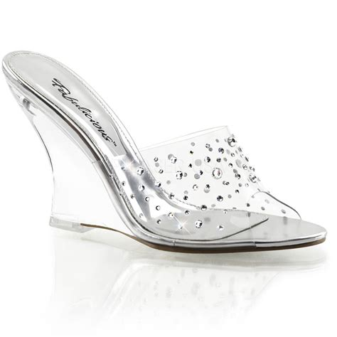 glass slippers are so back clear rhinestone cinderella glass slippers bridal wedge