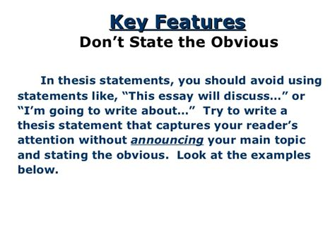 what does a thesis statement look like thesis for response to literature