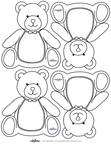 teddy card template teddy baby shower teddy printables these would