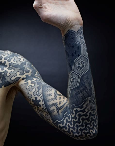 geometric sleeve tattoo geometric images designs