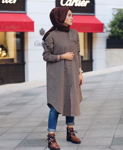 Tunik Denim Grey Dress Denim Abu style jean 2017