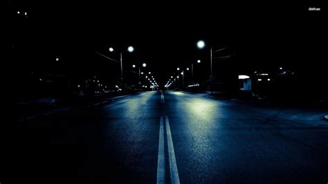 Dark Street At Night   wallpaper.