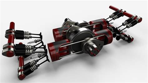 The New Waissi Engine, Pistons But No Connecting Rods