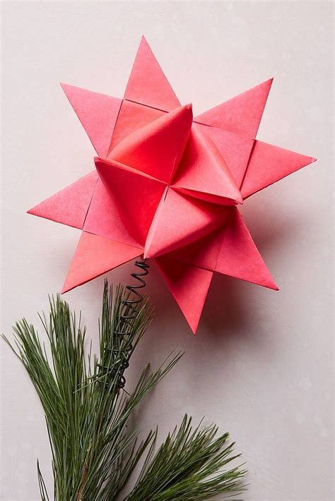 Origami Tree Topper - trees inspired by popsugar home