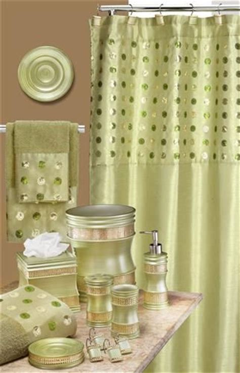 green bathroom sets sequins green bath accessory set go green pinterest