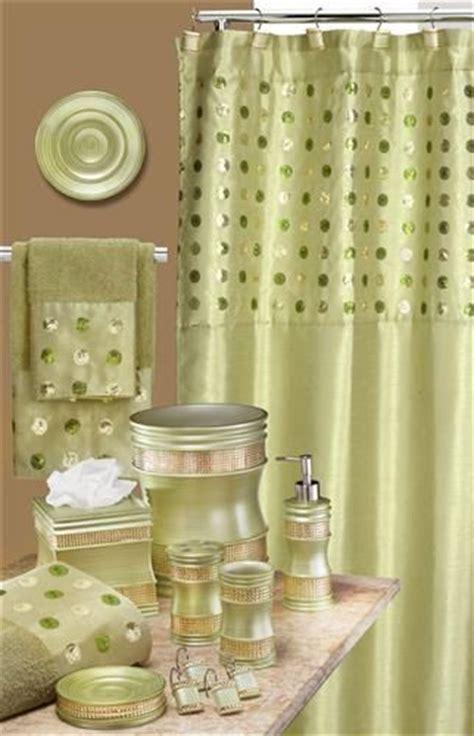 sequin bathroom sets sequins green bath accessory set go green pinterest
