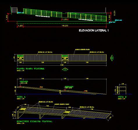 pedestrian ramp dwg block  autocad designs cad