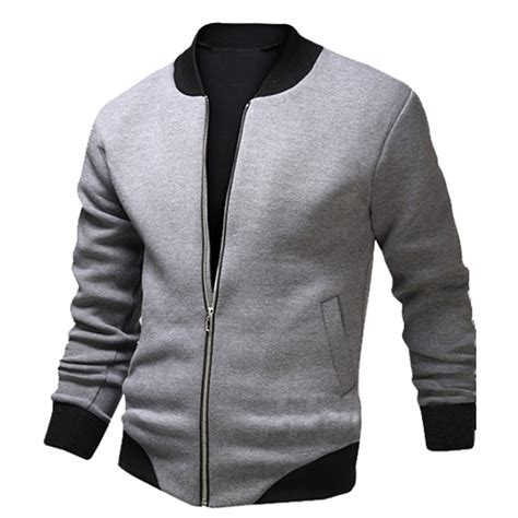 jacket design new new gray bomber jacket men 2016 fashion design mens slim