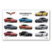 C6 Corvette Coupe Exterior Colors Poster ChevyMall