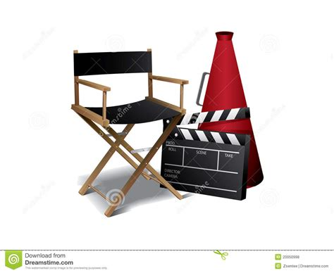 movie director chair clip art movie director chair stock photo image of clapperboad