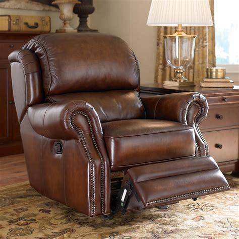 bassett leather recliner rocker recliner