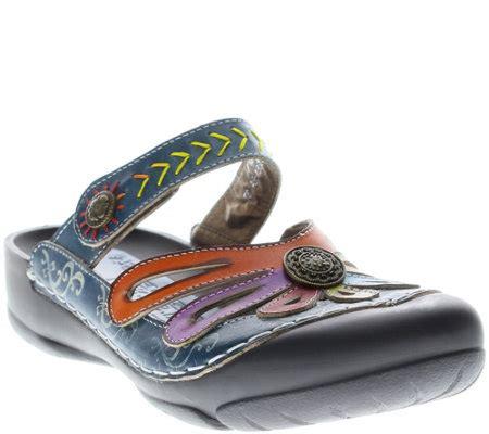 l artiste shoes clogs step l artiste leather clogs copa qvc