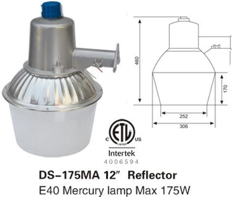 mercury vapor light photocell 175w street light security yard light for led corn