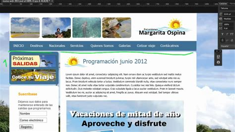 tutorial pagina web en dreamweaver maquetaci 243 n de plantilla desde dreamweaver youtube