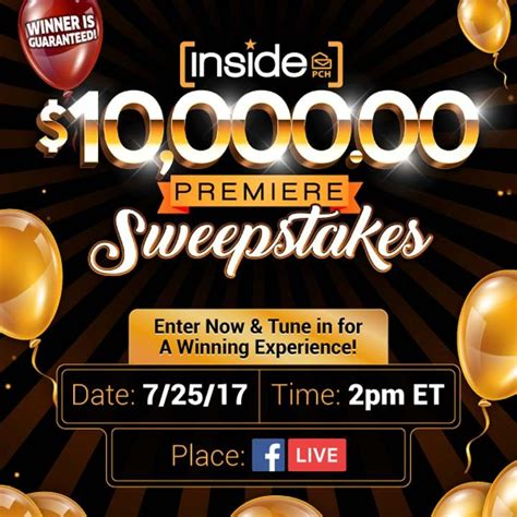 Pch Com Sweepstakes - inside pch com 10 000 00 premiere sweepstakes no 10121 sweepstakes pit