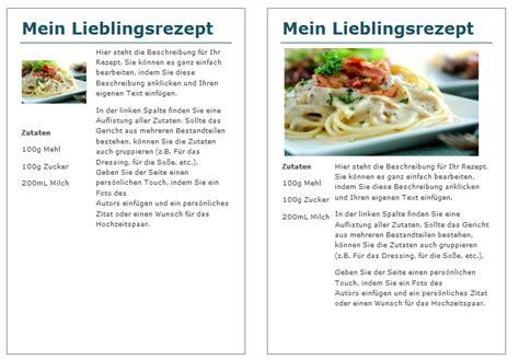 Word Vorlage Rezept Schritt F 252 R Schritt Kochbuch Selbst Gestalten Epubli
