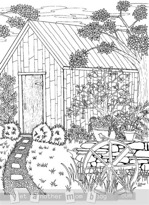 country house coloring pages 16 best images about color me zen buildings on pinterest
