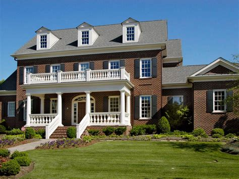 brick colonial house plans front porch designs for different sensation of your old