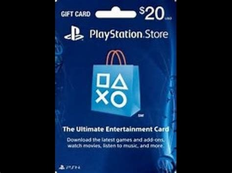 Free 20 Dollar Gift Card - how to get free 20 dollar psn cards free 2017 no sign up youtube