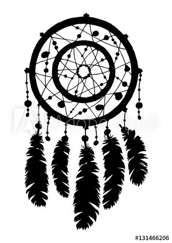 """Dream catcher silhouette in black color isolated on white"