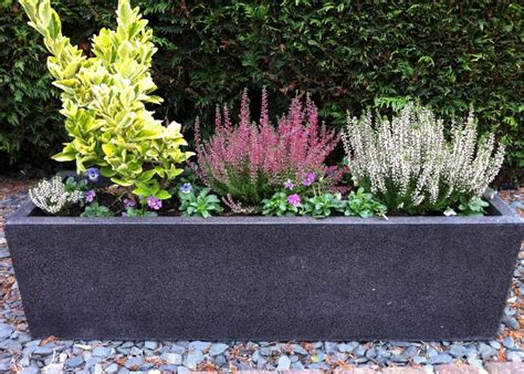 garden planters very large wooden trough planters long interior design ideas