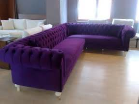 purple sofas bewitched tufted l shaped sofa for the home