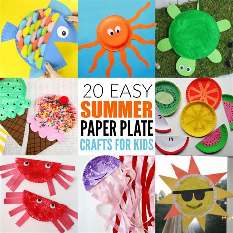 Summer Paper Crafts For - easy summer paper plate crafts for plates make great