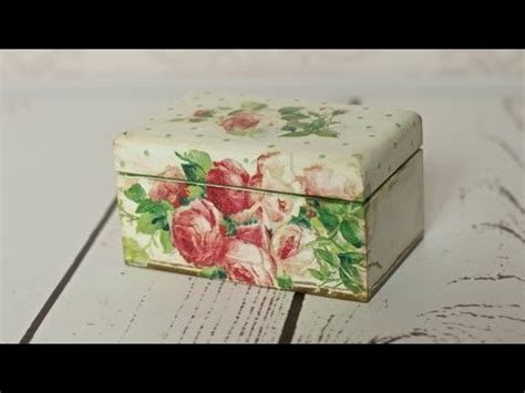 Decoupage For Beginners - decoupage tutorial tea box yourepeat