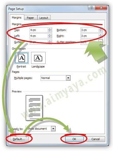 layout surat resmi cara membuat margin default di ms word cara aimyaya