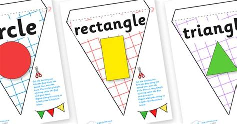 printable shapes display twinkl resources gt gt 2d shape display bunting gt gt thousands