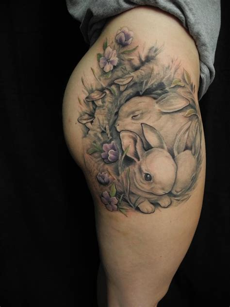 cute bunny tattoo designs great bunny pictures tattooimages biz