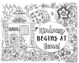 kindness coloring pages kindness begins at home a coloring page and a message