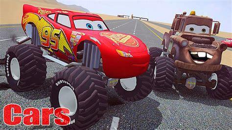 lightning mcqueen monster truck videos cars mater national monster truck lightning mcqueen