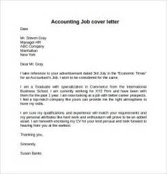 cover letter for applying accounting cover letter exle for 10 free documents
