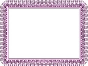 Purple Certificate Template by Purple Formal Certificate Backgrounds For Presentation